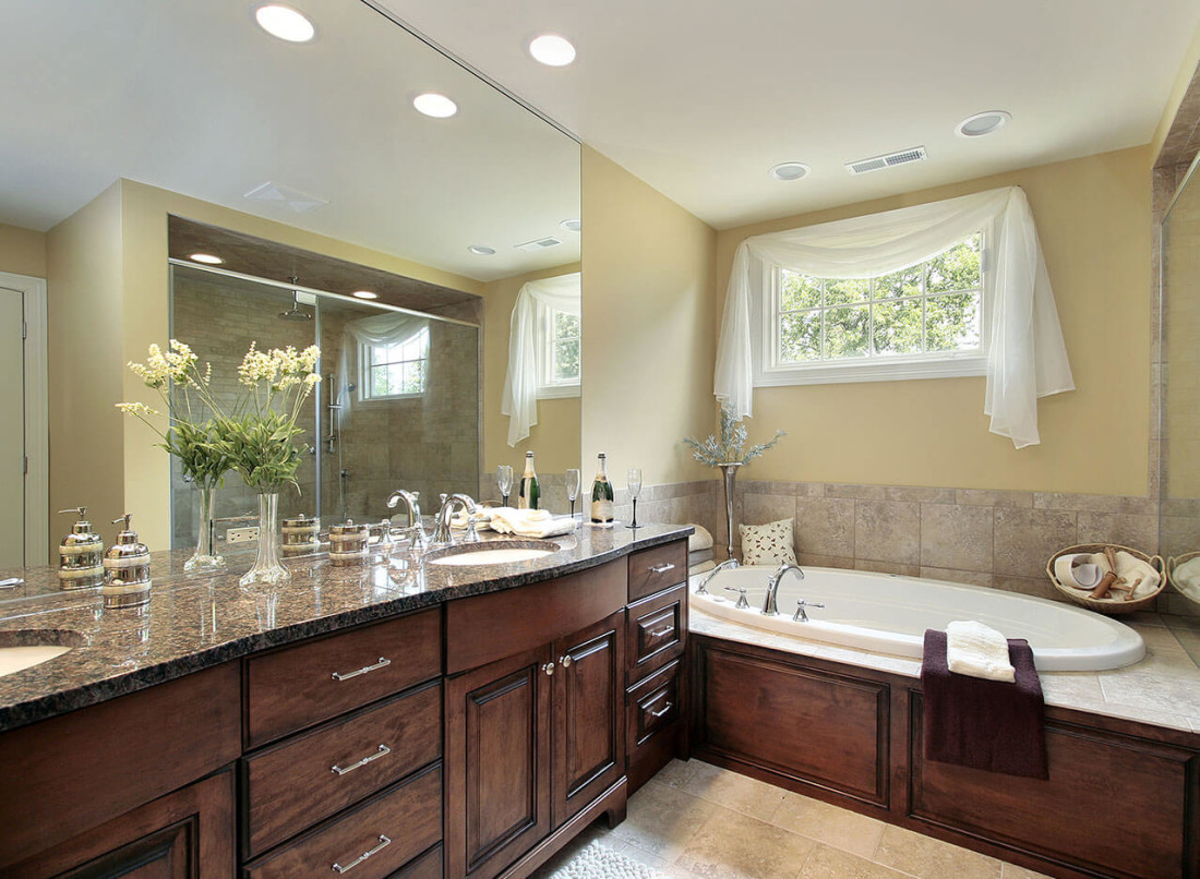 Attrayant ... Tan Brown Granite Bathroom Countertop ...