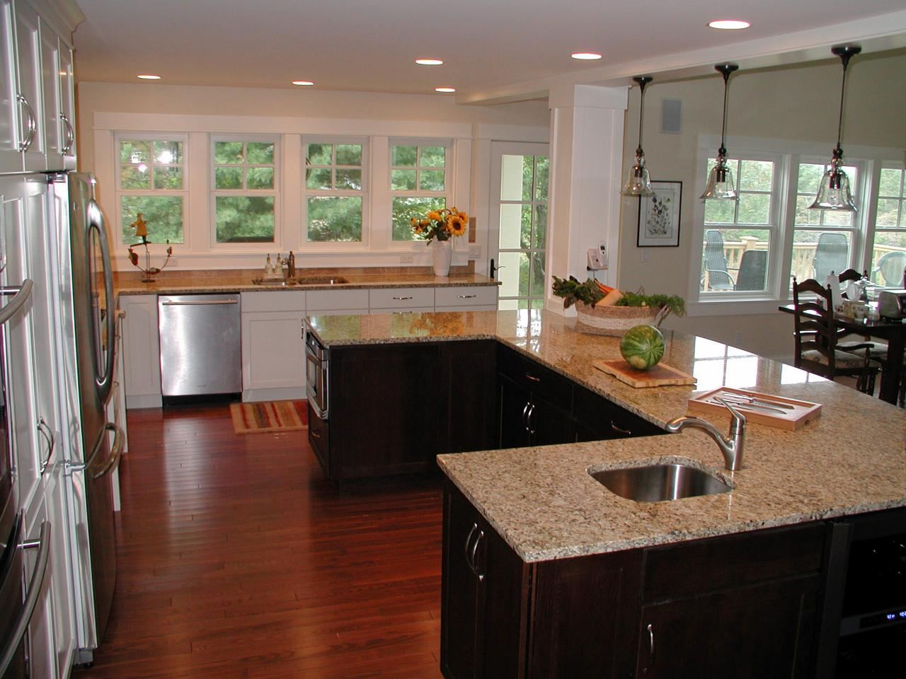 Kitchen Island Designs & Layouts - Great Lakes Granite & Marble on u shaped kitchen island, u shaped kitchen microwave, u shaped kitchen kitchen, u shaped kitchen apron sink, u shaped kitchen cabinets,